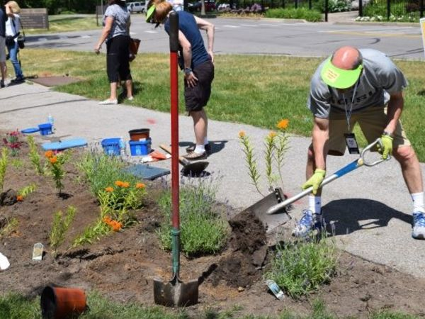 Butterfly garden installed near St. Mary's Lake