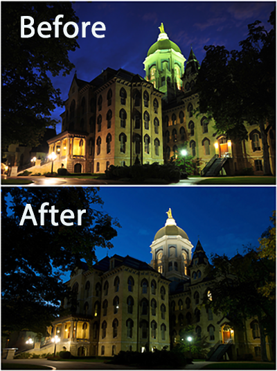 Main Building Led Lighting