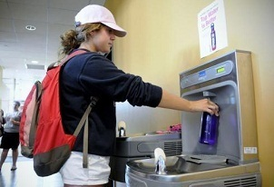 Hydration Station; Water Bottle Filling Station